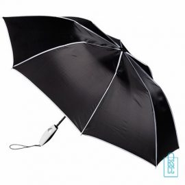Opvouwbare paraplu bedrukken, LF-170, zwart, opgevouwen