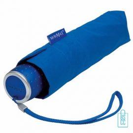 Opvouwbare paraplu bedrukken LGF-202 Blauw opgevouwen