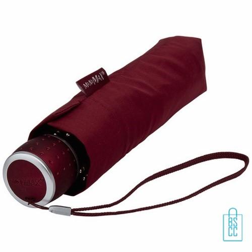 Opvouwbare paraplu bedrukken LGF-202 Bordeaux opgevouwen