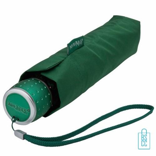 Opvouwbare paraplu bedrukken LGF-202 Groen opgevouwen