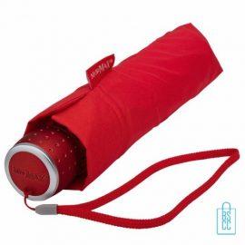 Opvouwbare paraplu bedrukken LGF-202 Rood opgevouwen