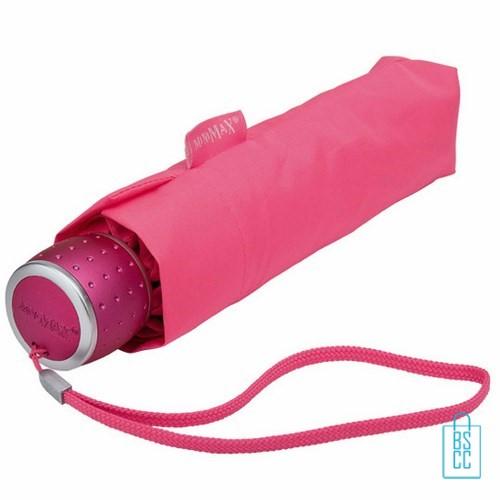 Opvouwbare paraplu bedrukken LGF-202 Roze opgevouwen