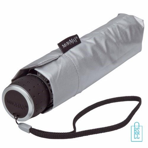 Opvouwbare paraplu bedrukken LGF-202 Zilver opgevouwen