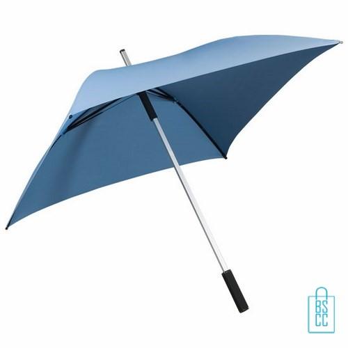 LFG-44, GP-44, vierkante paraplu bedrukken, vierkante paraplu bedrukt, vierkante paraplu met logo,goedkope vierkante paraplu