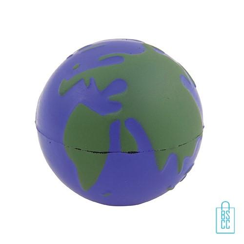 stressballen wereldbol bedrukken, stressballen bedrukt, stressballen met logo