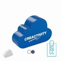 stressballen wolk bedrukken, stressballen bedrukt, stressballen met logo