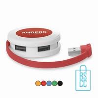 USB hub bedrukken Rond, usb hub bedrukt, usb hub met logo