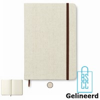 Notitieboek A5 Canvas bedrukken beige