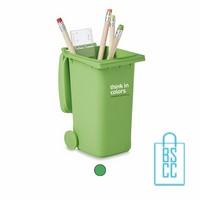 Pennenhouder container groen bedrukken