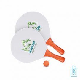 Beachball set bedrukken, beachball set bedrukt, tennisset bedrukken, beachballset met logo