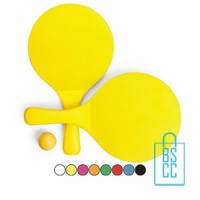 Beachball set bedrukken, beachball set bedrukt, tennisset bedrukken, beachballset met logo
