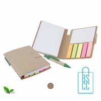 Memoboekje eco bedrukken, duurzaam memoboekje bedrukt, zelfklevende memo bedrukken, post it