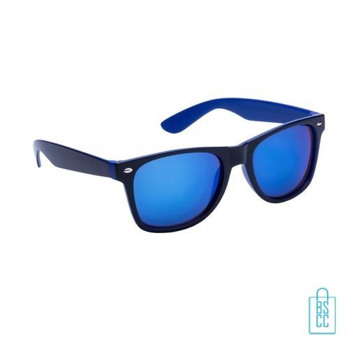 Metallic zonnebril goedkoop bedrukken, zonnebril bedrukt, bedrukte zonnebril, zonnebril met logo