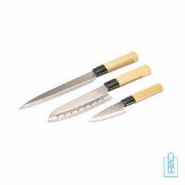 Messenset Japans RVS bedrukken, Messenset bedrukt, Messenset met logo, bedrukte Messenset