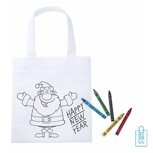 kerst kleurtas bedrukken, non woven, kleurtas bedrukt, bedrukte shopper met logo