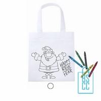 kerst kleurtas bedrukken, kleurtas bedrukt, bedrukte shopper met logo