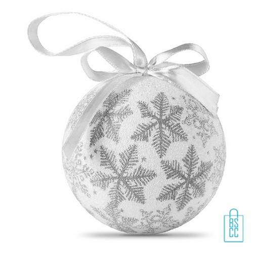 kerstbal bedrukken, kerstbal bedrukt, bedrukte kerstbal met logo, kerstballen, zilver, parelmoer