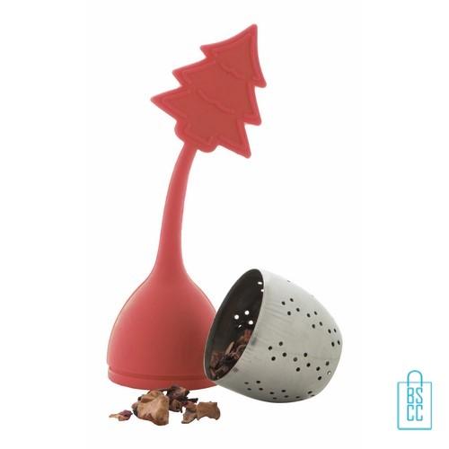 kerstboom theebolletje bedrukken, theebolletje bedrukt, bedrukte kerst theebolletje met logo