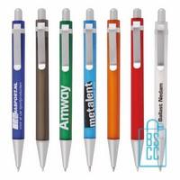 Transparante pennen bedrukken, doorzichtige pennen bedrukken, transparante pen bedrukt, bedrukte doorzichtige pen met logo