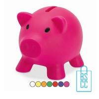 Spaarpot bedrukken, spaarvarken bedrukken, kinderrelatiegeschenken bedrukken, spaarhuisje bedrukken