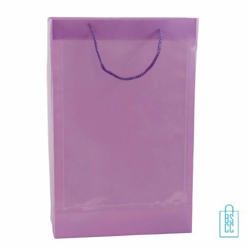 Transparante tas a4 met 2 vensters bedrukken, transparante tas, A4, tasjes bedrukt, bedrukte tassen