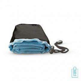 Fitness handdoek bedrukken blauwe, sporthanddoek bedrukt, sporthanddoek met logo