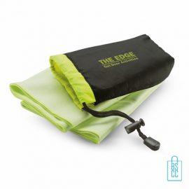 Fitness handdoek bedrukken groene, sporthanddoek bedrukt, sporthanddoek met logo