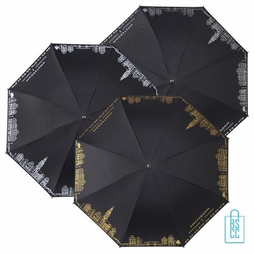 Golfparaplu Amsterdam bedrukken, LR-7-ASS, gebouwen amsterdam paraplu, souvenir amsterdam paraplu, goedkope amsterdam paraplu