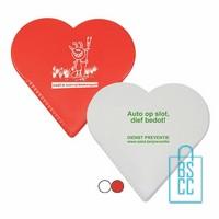 IJskrabber hart bedrukken, ijskrabbers bestellen, ijskrabber hartvorm, ijskrabber rood