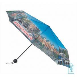 Opvouwbare paraplu Amsterdam bedrukken, LF-101, gebouwen amsterdam paraplu, souvenir amsterdam paraplu, goedkope amsterdam paraplu
