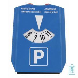 Parkeerschijf ijskrabber bedrukken, parkeerkaart bestellen, parkeerschijf goedkoop