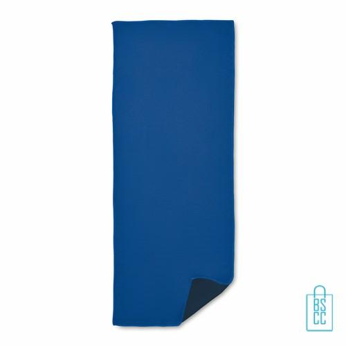 Sporthanddoek goedkoop bedrukken blauw, sporthanddoek bedrukt, sporthanddoek met logo