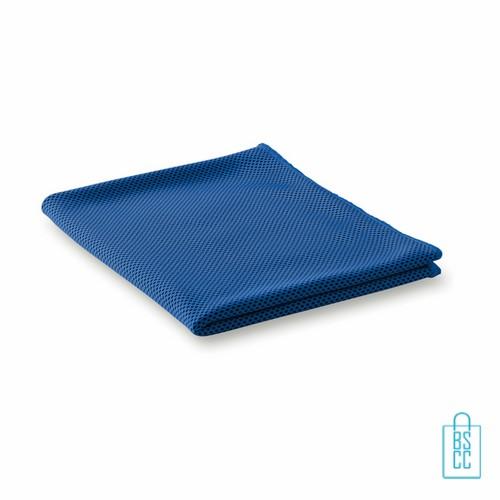 Sporthanddoek goedkoop bedrukken blauwe, sporthanddoek bedrukt, sporthanddoek met logo