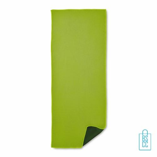 Sporthanddoek goedkoop bedrukken groene, sporthanddoek bedrukt, sporthanddoek met logo