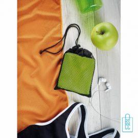 Sporthanddoek goedkoop bedrukken zakje, sporthanddoek bedrukt, sporthanddoek met logo