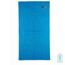 Sporthanddoek groot bedrukken blauw, sporthanddoek bedrukt, sporthanddoek met logo