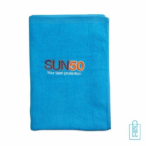 Sporthanddoek groot bedrukken blauwe, sporthanddoek bedrukt, sporthanddoek met logo