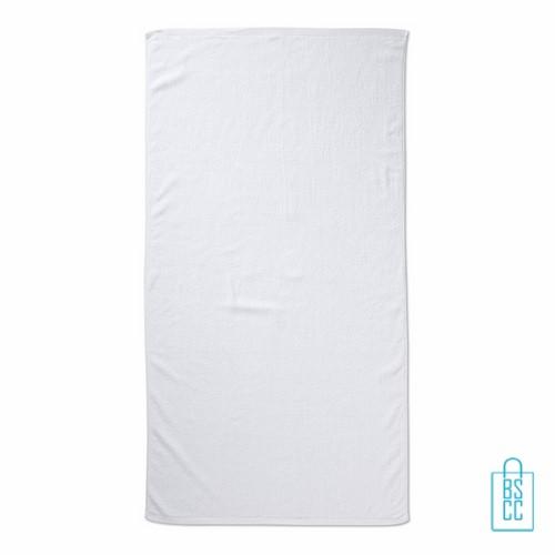 Sporthanddoek groot bedrukken wit, sporthanddoek bedrukt, sporthanddoek met logo