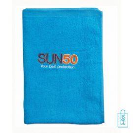 Sporthanddoek groot bedrukt blauwe, sporthanddoek bedrukt, sporthanddoek met logo