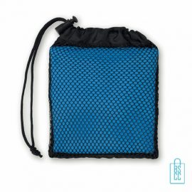 Sporthanddoekje bedrukken blauw, sporthanddoek bedrukt, sporthanddoek met logo
