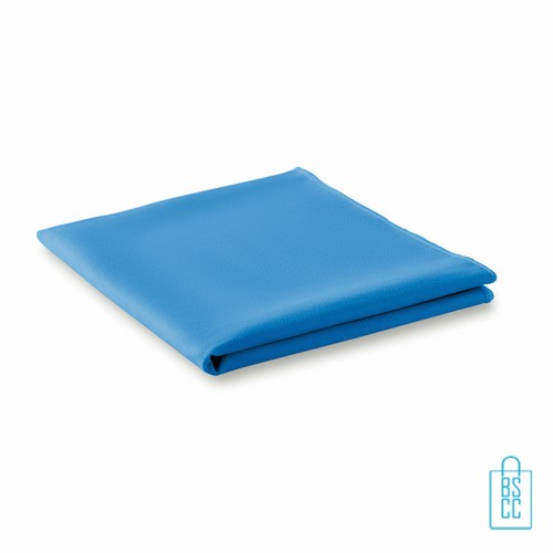 Sporthanddoekje bedrukken blauw budget, sporthanddoek bedrukt, sporthanddoek met logo