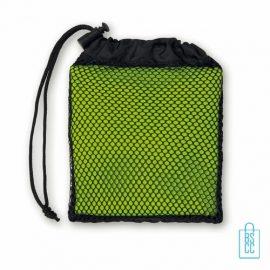 Sporthanddoekje bedrukken groen, sporthanddoek bedrukt, sporthanddoek met logo