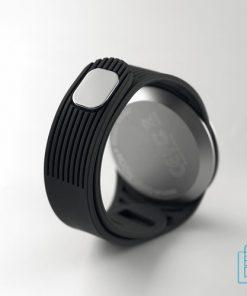 Sporthorloge multifunctioneel bedrukken achterzijde, sporthorloge bedrukken, bedrukte smartwatch met logo