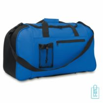 Sporttas XL bedrukken blauw, sporttas bedrukken, bedrukte sporttas met logo