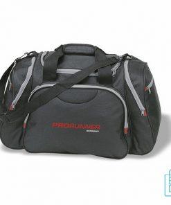 Sporttas luxe bedrukt zwart, sporttas bedrukken, bedrukte sporttas met logo