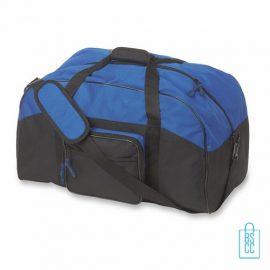 Sporttas maxi bedrukken blauw, sporttas bedrukken, bedrukte sporttas met logo