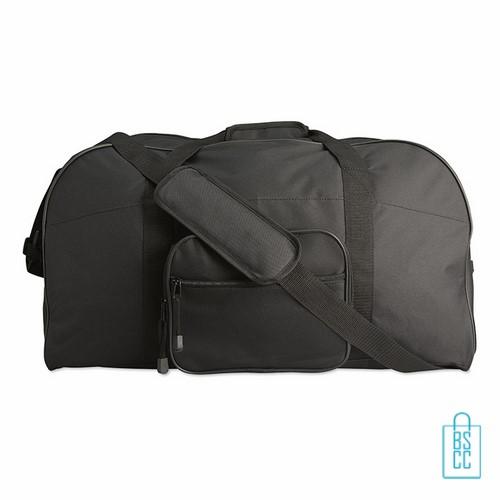 Sporttas maxi bedrukken zwart goedkoop, sporttas bedrukken, bedrukte sporttas met logo