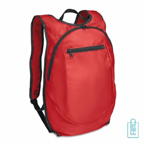 Sporttas running bedrukken hardlooptas rood, sporttas bedrukken, bedrukte sporttas met logo