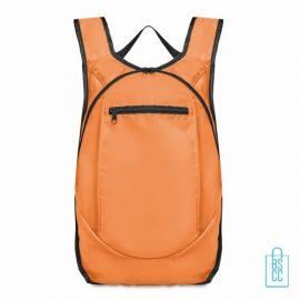 Sporttas running bedrukken orange, sporttas bedrukken, bedrukte sporttas met logo