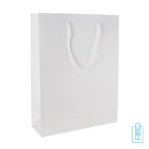 Gelamineerde geschenktas wit bedrukken